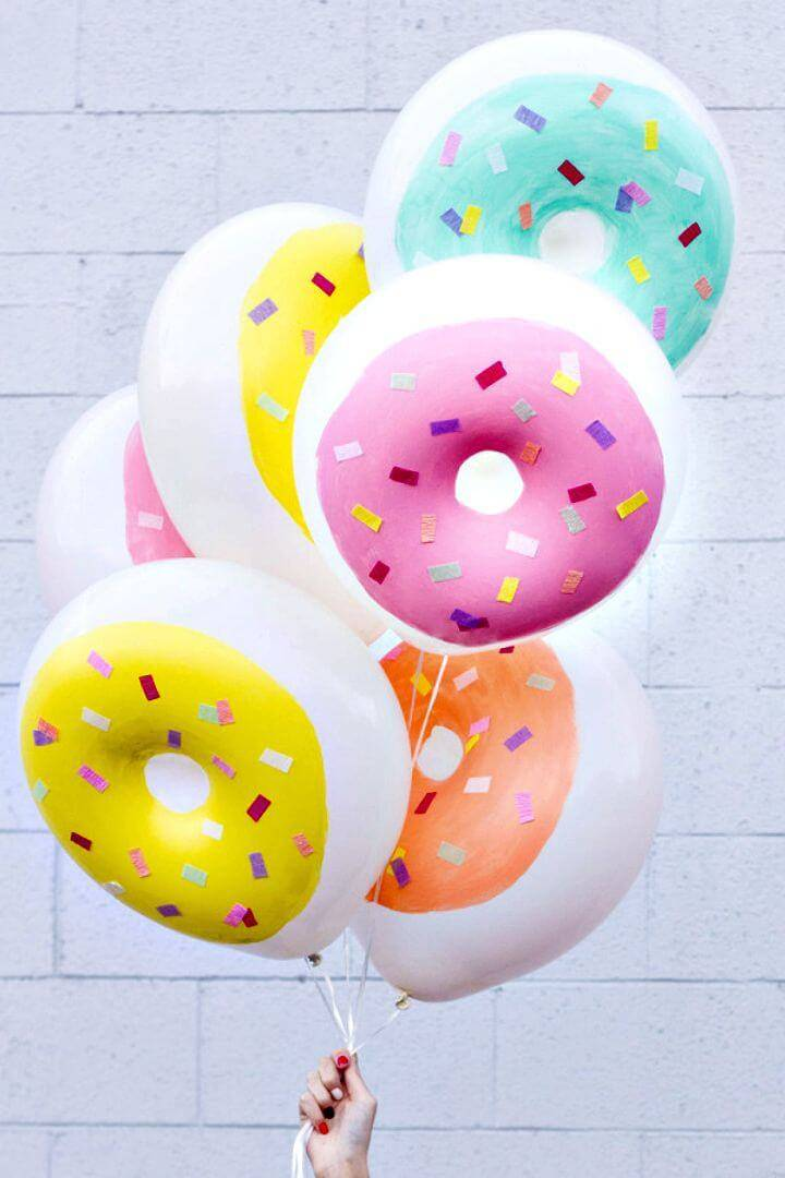 Super Cute DIY Donuts Balloons for Summer Party Decorations