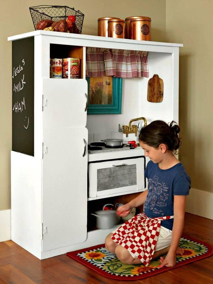 Super Easy DIY Play Kitchen Tutorial