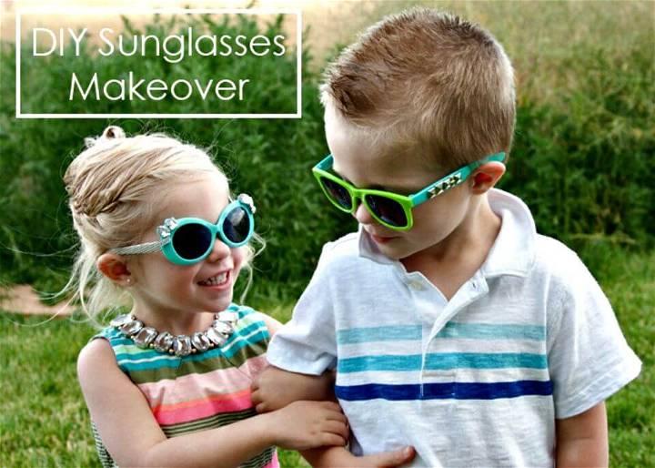 Super Easy DIY Kids Sunglasses Makeover