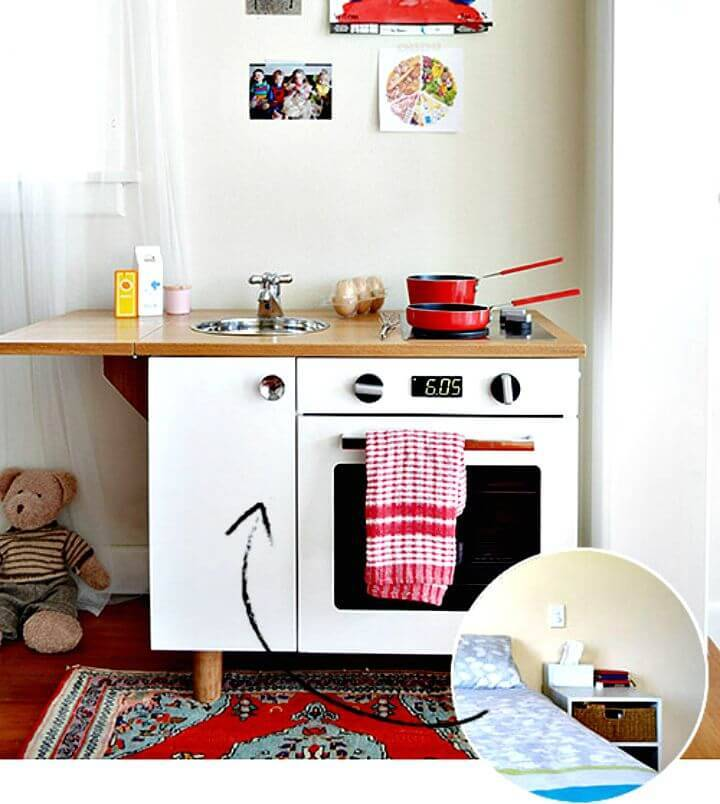 Turn Bedside Table Set Into Play Kitchen