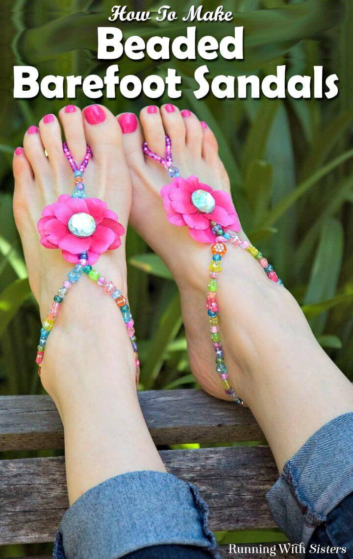 How to Make Summer Beaded Barefoot Sandals