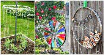 10 Amazing DIY Repurposed Bicycle Wheel Ideas, DIY Projects, DIY Home Decor Ideas, DIY Crafts - DIY Craft Ideas