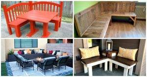 10 DIY Corner Bench Ideas for Indoor & Outdoor - DIY Furniture Ideas - DIY Projects - DIY Crafts - DIY Woodworking Projects