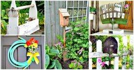 12 DIY Ideas to Repurpose Old Garden Tools- DIY Projects - DIY Home Decor Ideas - DIY Crafts - DIY Recycled Ideas