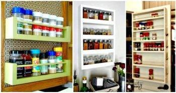 12 DIY Spice Rack Ideas - DIY Spice Rack Plans - DIY Spice Rack Shelf - DIY Spice Rack Organizer - DIY Projects - DIY Crafts - Easy Crafts