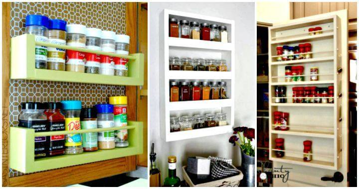 12 DIY Spice Rack Ideas - DIY Spice Rack Plans - DIY Spice Rack Shelf - DIY Spice Rack Organizer - DIY Projects - DIY Crafts - Easy Crafts