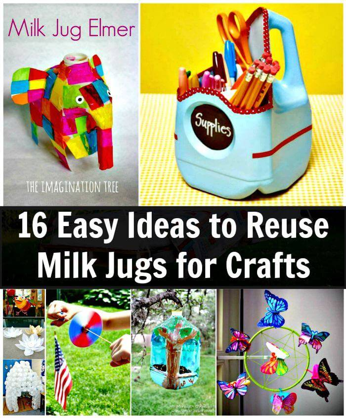 16 Easy Ideas to Reuse Milk Jugs for Crafts, DIY Projects, DIY Crafts, Easy Craft Ideas for Kids