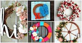 25 DIY Summer Wreath Ideas That Will Blow Your Mind - DIY Wreaths, DIY Projects, DIY Home Decor Ideas, Easy DIY Crafts