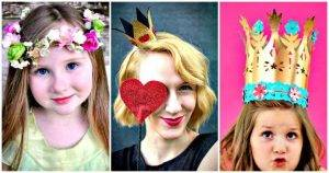 30 Easy DIY Crown Ideas for You and Your Little Crafter- DIY Princess Crown Ideas - DIY Crowns - Easy DIY Craft Ideas and DIY Projects