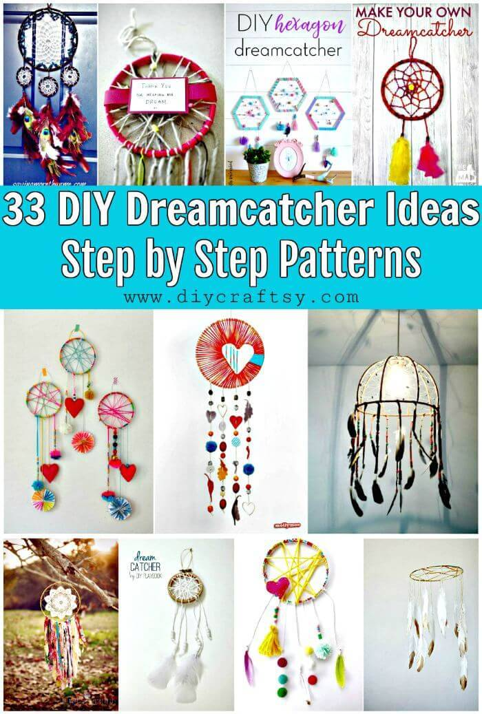 33 DIY Dreamcatcher Ideas with Step by Step Patterns, DIY Projects, DIY Crafts, DIY Home Decor Ideas, Easy Craft Ideas