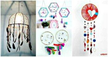 33 DIY Dreamcatcher Ideas with Step by Step Patterns, DIY Projects, Easy DIY Crafts, DIY Home Decor Ideas, Easy Craft Ideas
