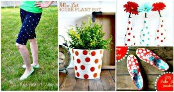 45 DIY Polka Dot Crafts You Haven't did Before - DIY Crafts - DIY Projects - Polka dot dress - Polka dot jean, Polka dot shirt, DIY Polka dot home decor ideas