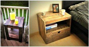 6 Pallet Side Table Ideas or Pallet End Table Ideas ( Full Instructions ) - Pallet Ideas and Pallet Furniture Projects