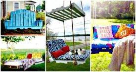 7 DIY Pallet Swing Plans To Build for Perfect Summer - Easy Pallet Ideas - Pallet Furniture and Pallet Projects