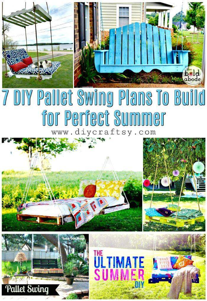 7 DIY Pallet Swing Plans To Build for Perfect Summer - Pallet Ideas - Pallet Furniture and Pallet Projects