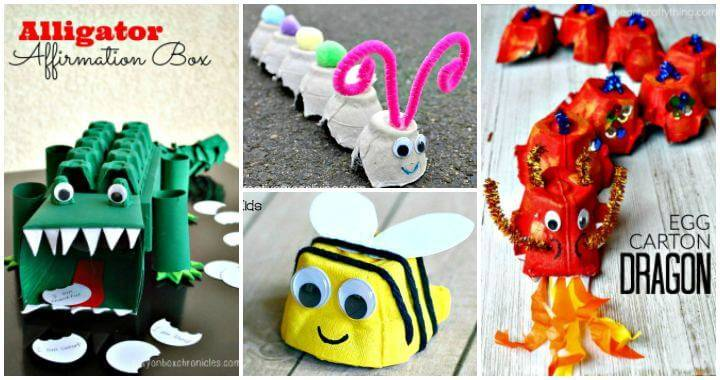 80 DIY Egg Carton Crafts That Make Your Kids Happy - DIY art and Craft Ideas for Kids, Kids Craft Ideas - Craft ideas for kids - DIY Crafts - easy DIY Projects