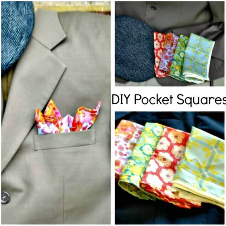 Adorable DIY Pocket Square - 3 Ways