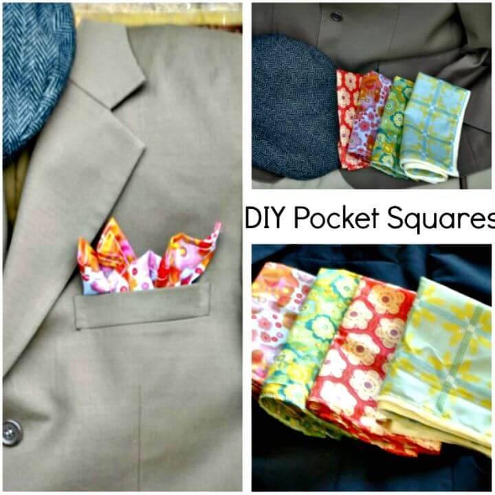 Adorable DIY Pocket Square - 3 Ways