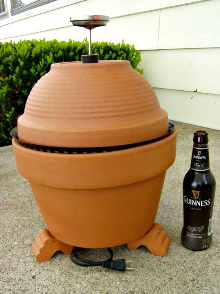 Adorable DIY Terracotta Smoker