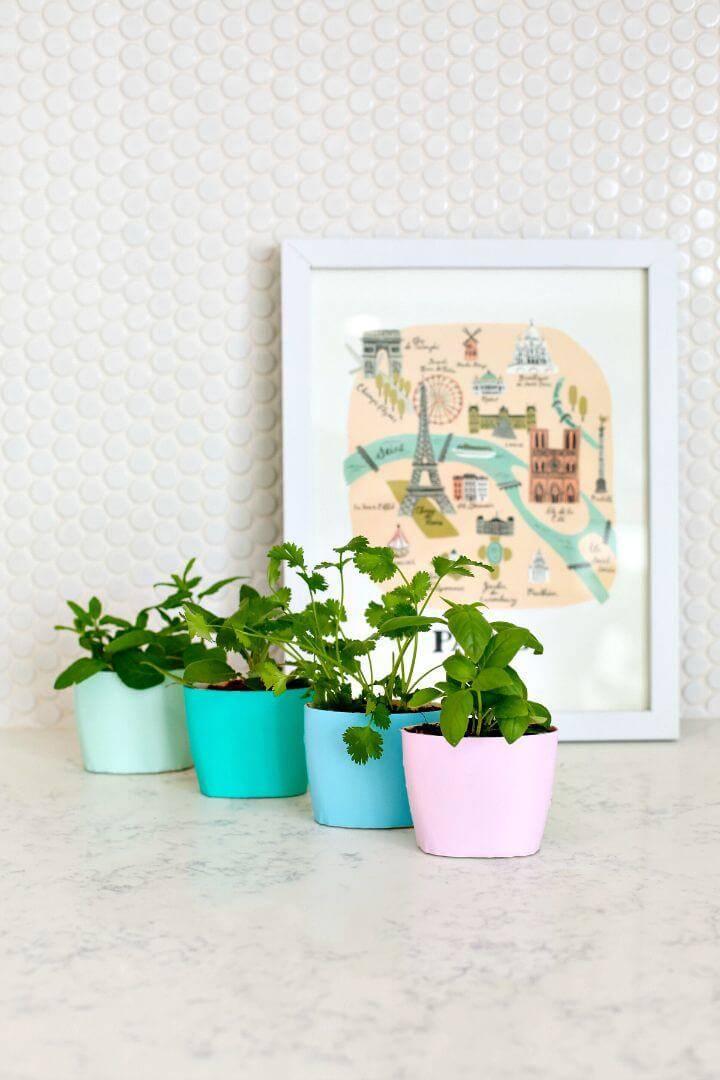 Up-cycled Indoor Herb Garden