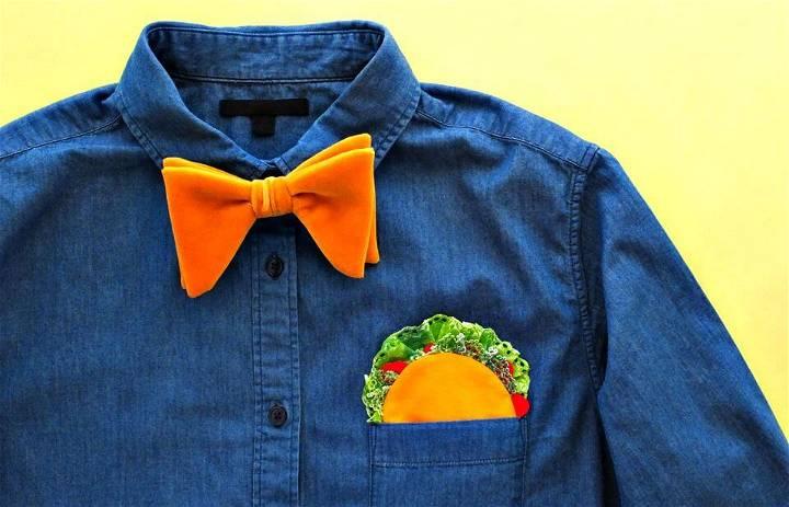 How to Sew Taco Pocket Square - DIY