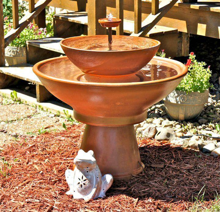 Simple DIY Terra Cotta Fountain