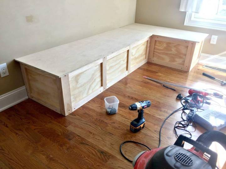DIY Corner Bench Or Kitchen Banquette