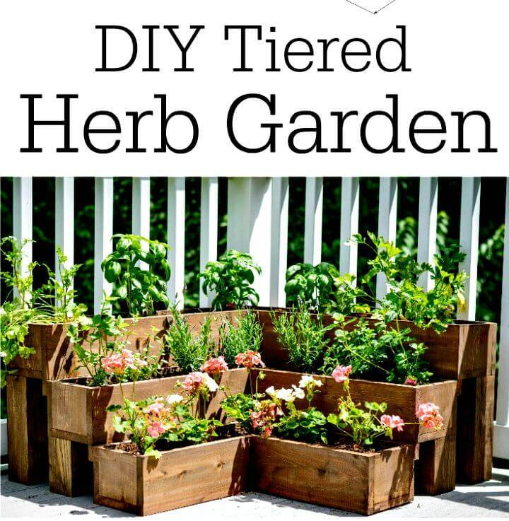 How to Build a Tiered Herb Garden - DIY