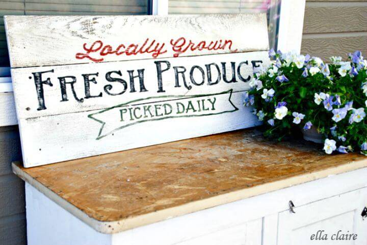 How to Create Fresh Produce Garden Sign - DIY