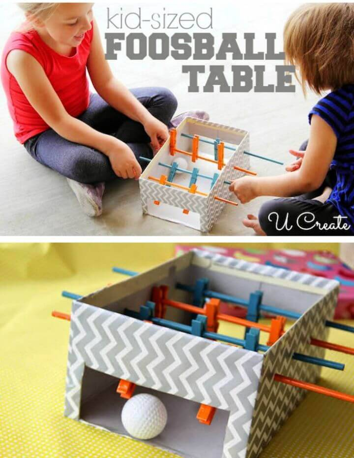Kid-friendly Mini Foosball Table for Your Kids - DIY