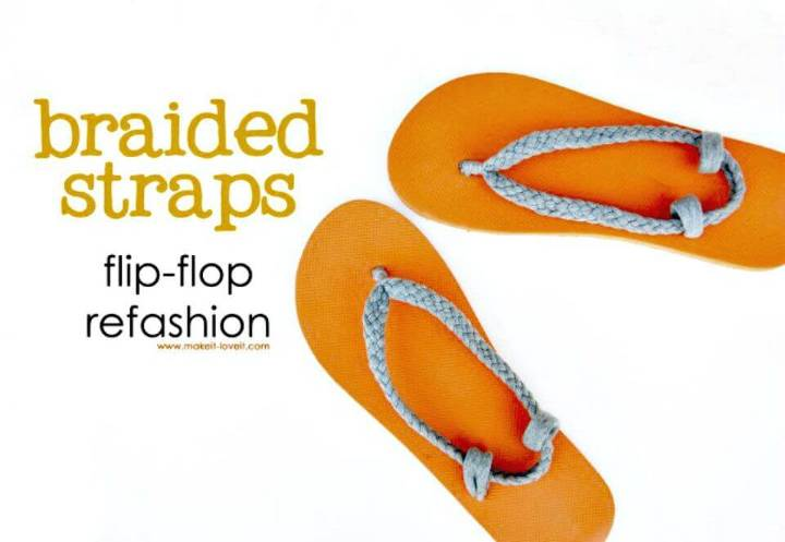 Easy DIY Braided Straps Flip-Flop Refashion