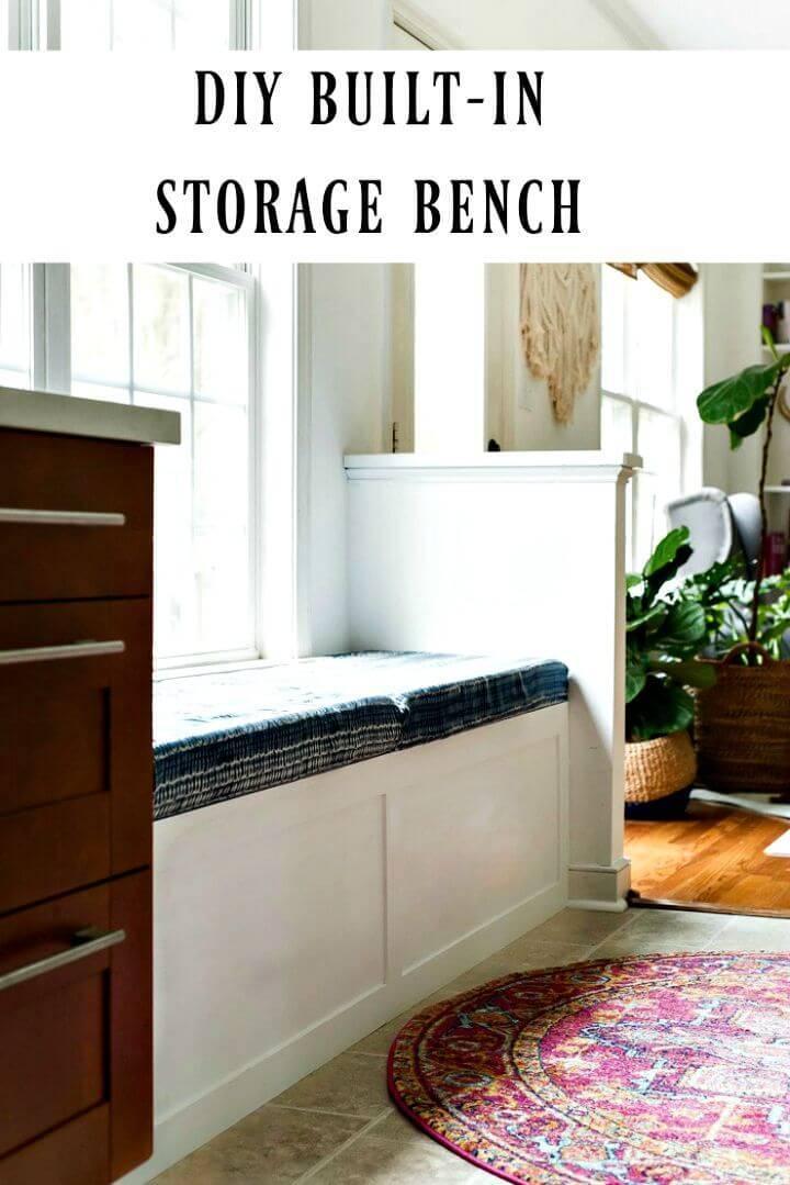 DIY Built-in Storage Bench Tutorial