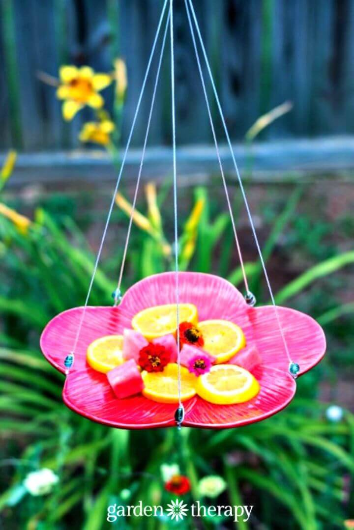Awesome DIY Butterfly Feeder Using Plate