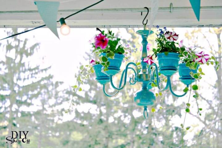 Beautiful DIY Chandelier Planter Tutorial - Terra Cotta Pots Crafts