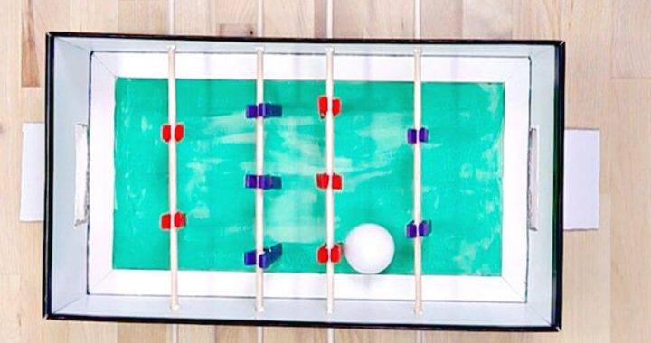 Quick DIY Clothespins Foosball Game