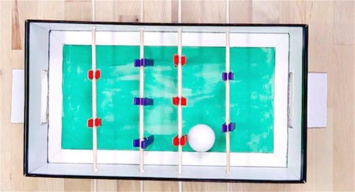 Quick DIY Clothespins Foosball Game