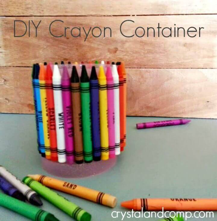 Easy DIY Crayon Container - Back to School Activities