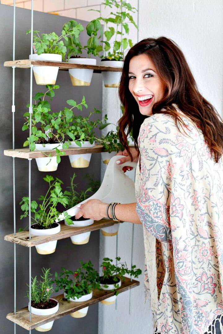 DIY Custom Potted Hanging Herb Garden