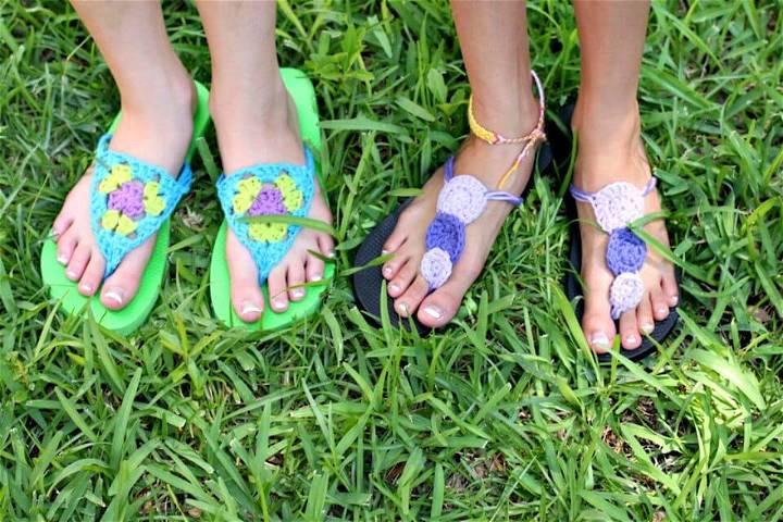 Free Crochet Flip Flop Refashion - DIY