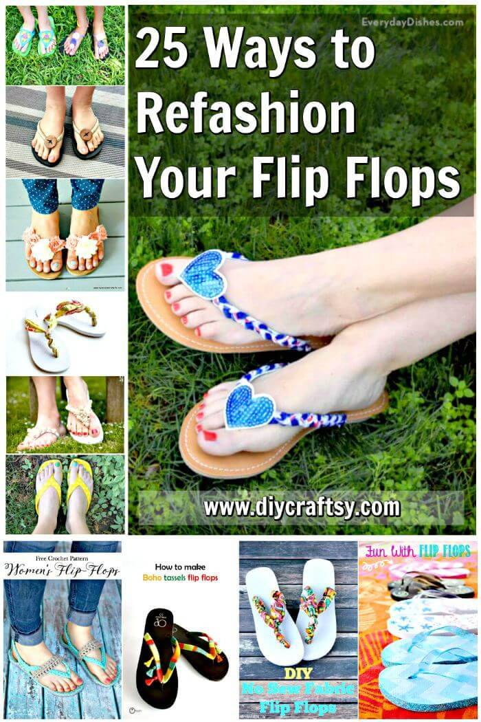DIY Flip Flops -25 Ways to Refashion Your Flip Flops, DIY Projects, DIY Crafts, DIY Fashion Ideas, Easy Craft Ideas