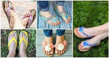 DIY Flip Flops -25 Ways to Refashion Your Flip Flops, DIY Projects, DIY Crafts, DIY Fashion Ideas, Easy DIY Craft Ideas