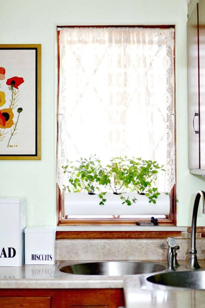DIY Floating PVC Window Herb Planter
