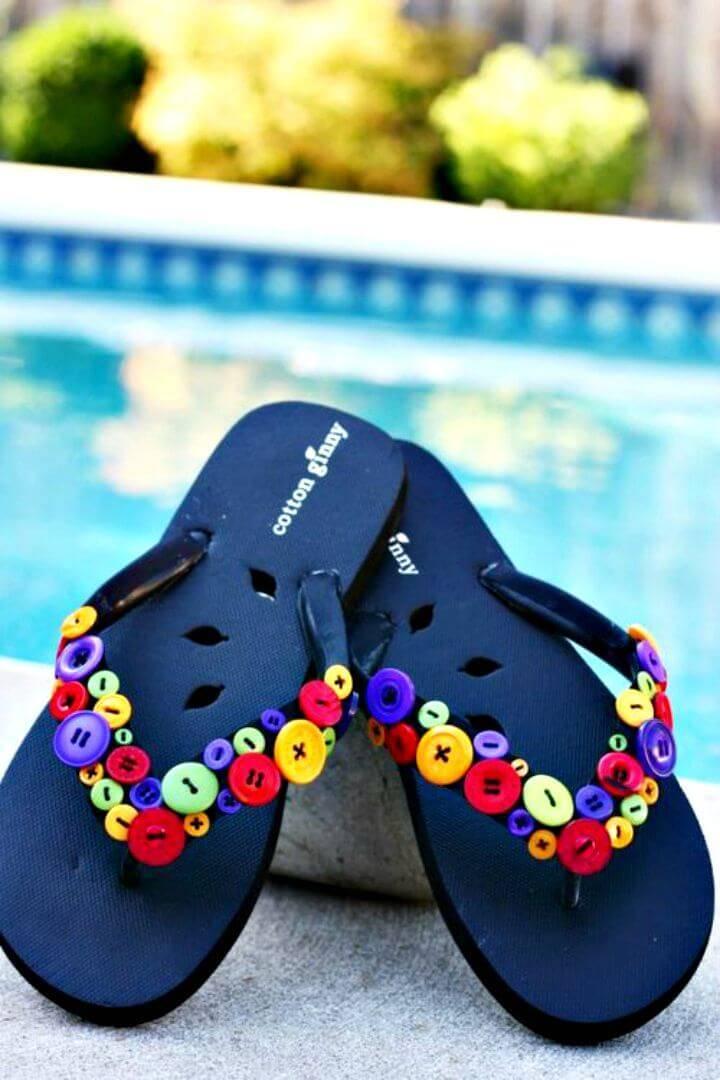 Simple DIY Fun & Funky Flip Flops