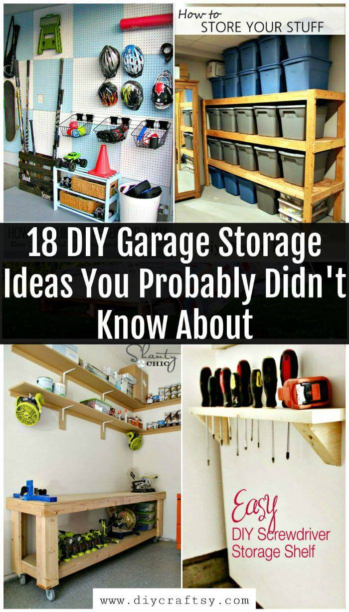 DIY Garage Storage Ideas, Garage Storage Shelves, Garage Storage Plans, DIY Projects, DIY Home Decor Ideas, DIY Crafts