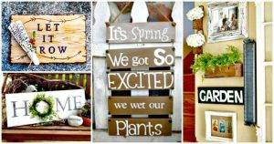 DIY Garden Signs and Garden Sign Sayings - DIY Garden Signs Made from Trash - DIY Home Decor Ideas - DIY Projects - DIY Crafts - DIY Ideas for Your Home