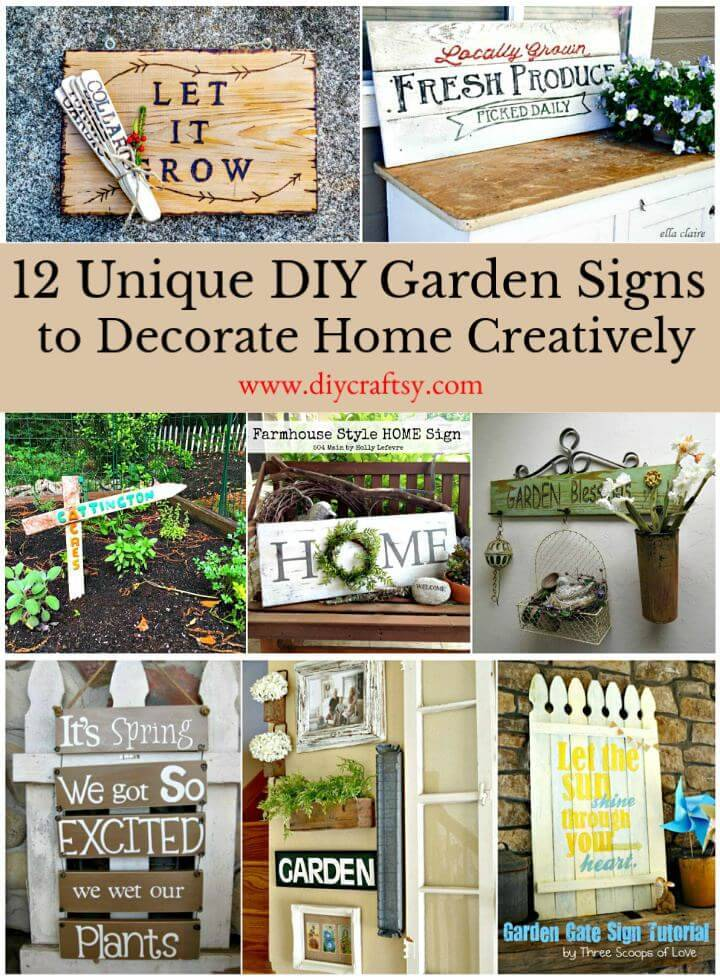 12 Unique Diy Garden Signs To Decorate Home Creatively Diy Crafts