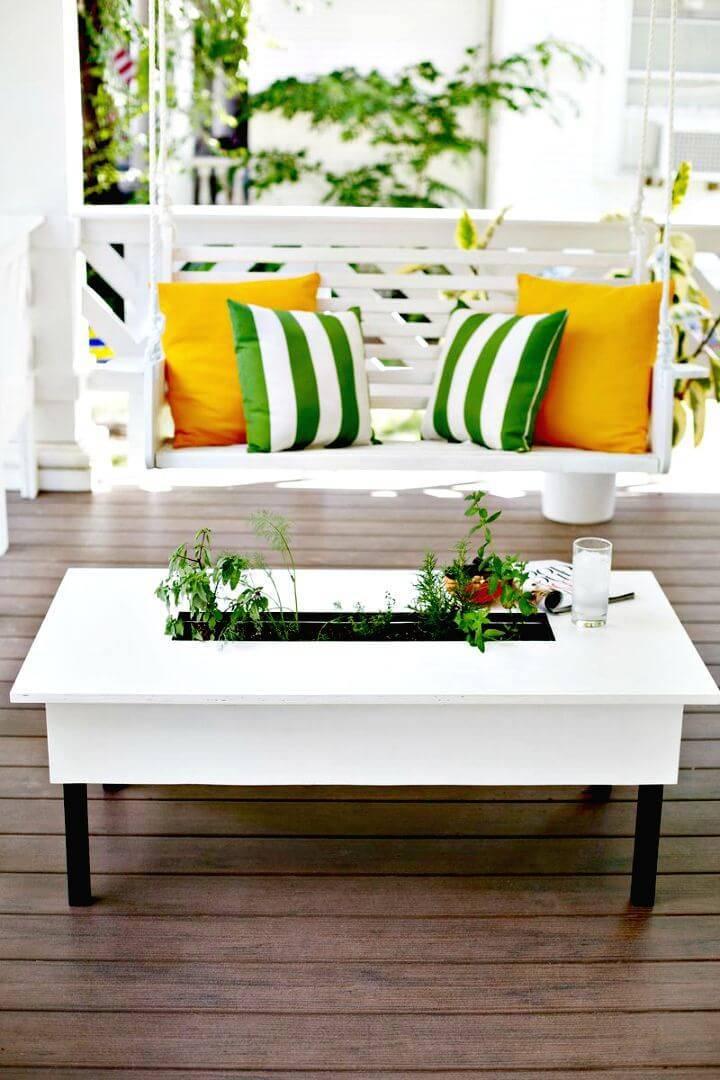 How to Create Herb Garden Coffee Table - DIY Herb Garden
