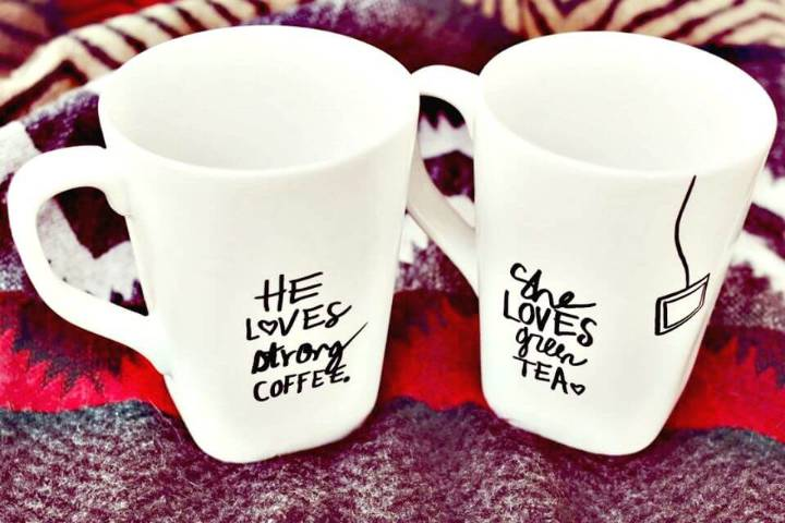 DIY His + Her Sharpie Mug Gift