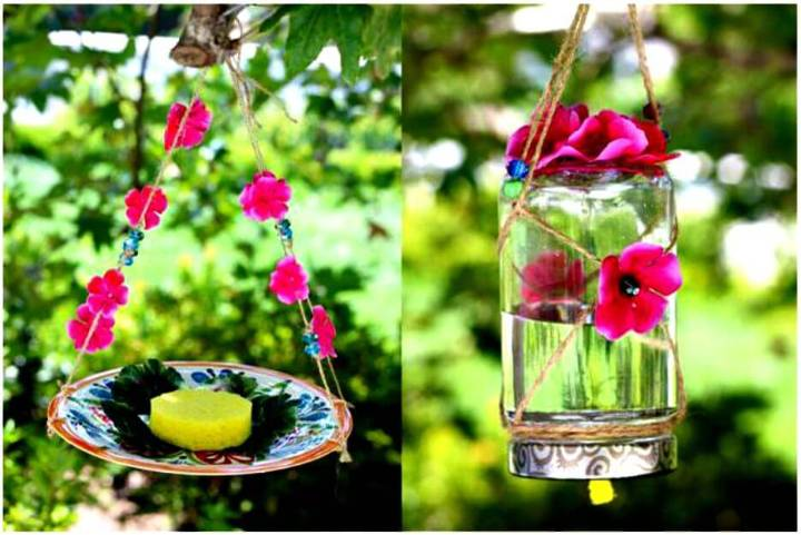 Cute DIY Homemade Butterfly Feeder