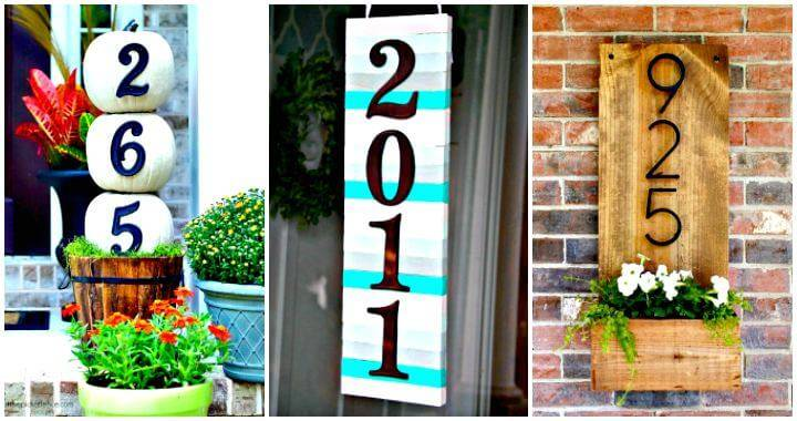 DIY House Numbers - 30 Unique Ideas to Display Your House Number - DIY Home Decor Ideas - DIY Outdoor Projects - DIY House number Ideas - Easy DIY Crafts - DIY Projects